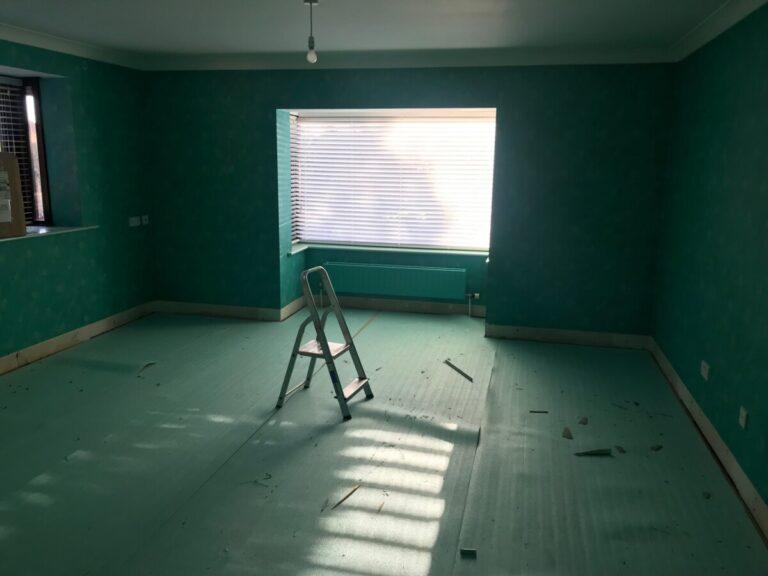 before decorating bedroom in Ferndown