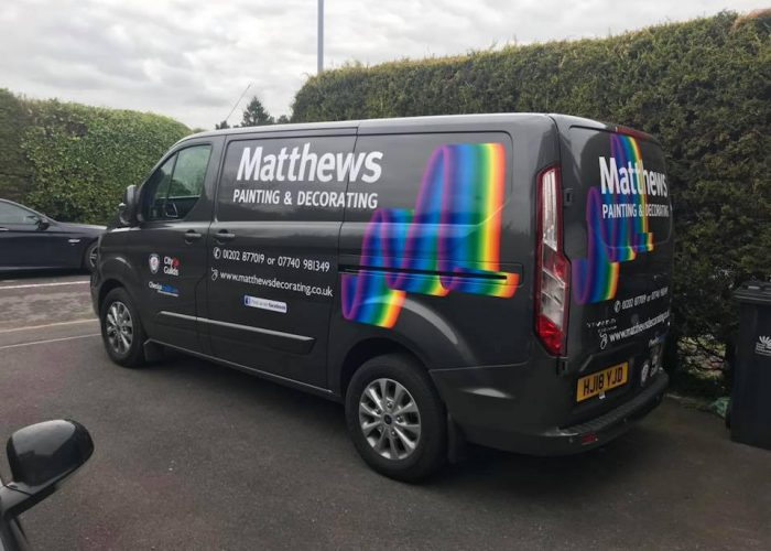Matthews Painting and Decorating van ready for action